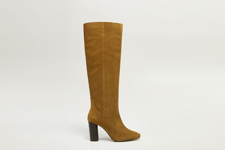 botas de caña alta camel mango botas de invierno
