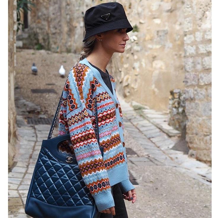 patricia sañes chaqueta jacquard estilo