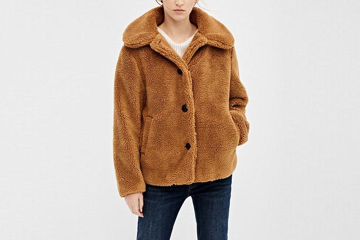 chaqueta corta teddy springfield prendas de borreguito