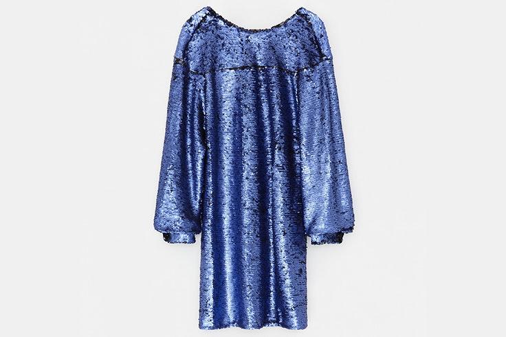 Vestido de lentejuelas en color azul de Bimba y Lola