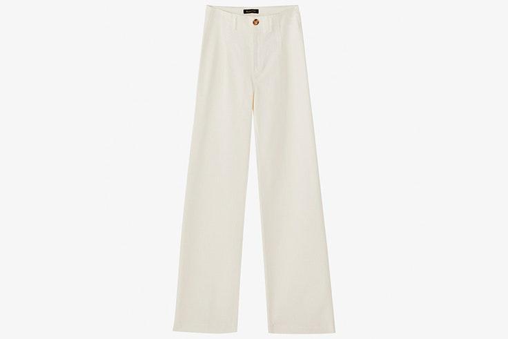 Pantalón blanco largo de Massimo Dutti