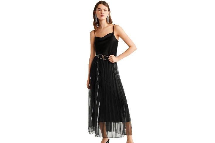 falda-plisada-negra