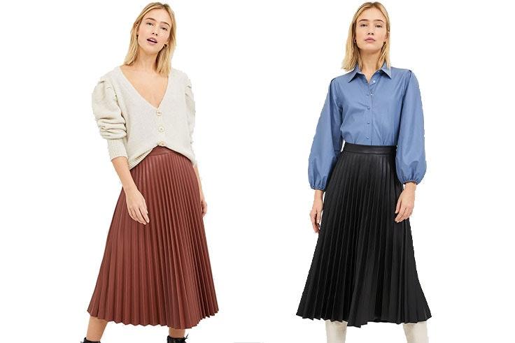 falda-plisada-piel