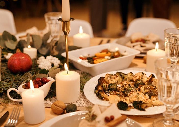 decorar mesa Nochebuena