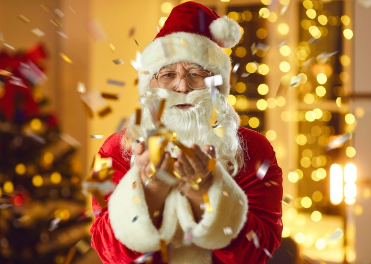 Papá Noel a casa
