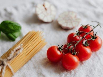 pasta fácil queso feta tomates