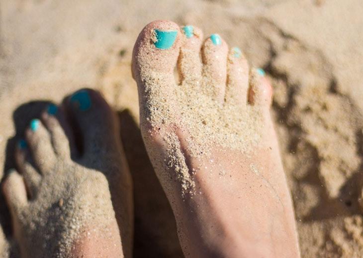 preparar pies sandalias