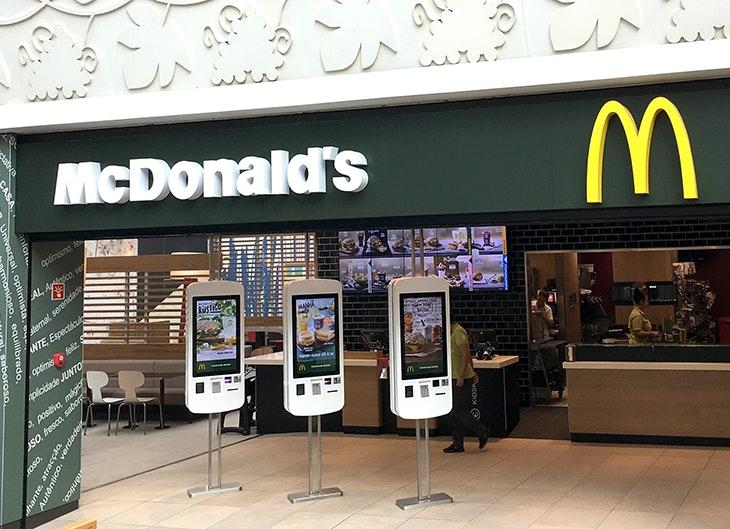Novo McDonald's no seu centro.