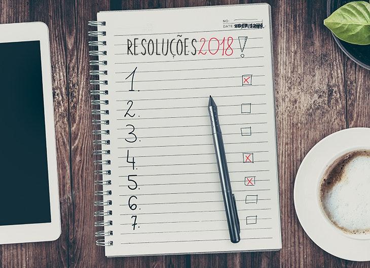 Resoluções para 2018.
