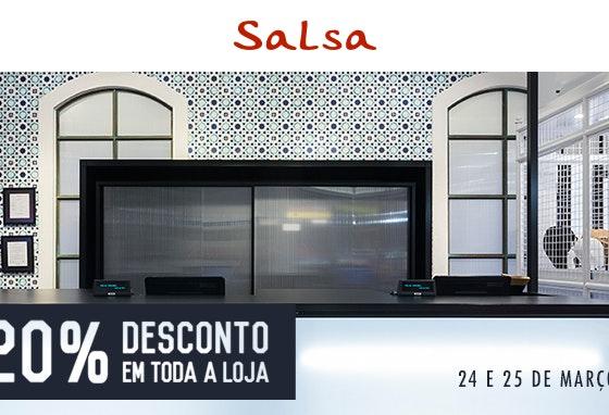 A loja da Salsa reabriu com 20% de desconto