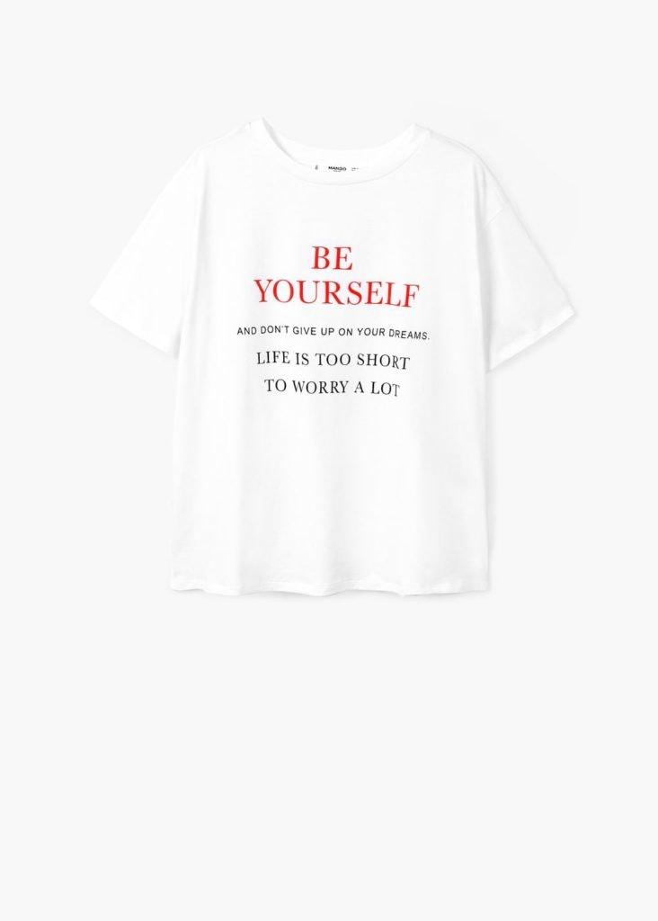 Mango, T-shirt be yourself, 9,99€