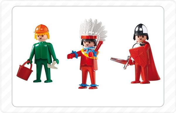 1974 - Nasce a Playmobil com brinquedos de nativos americanos, trabalhadores da construção e cavaleiros.