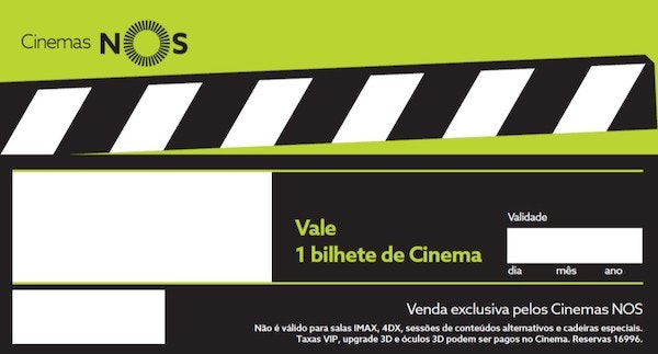 Voucher, Cinema NOS, 6,50€