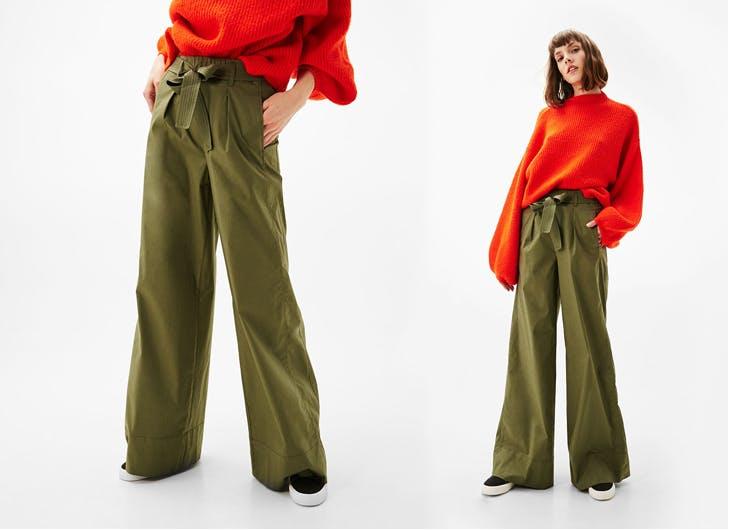 Cómo combinar un pantalón palazzo