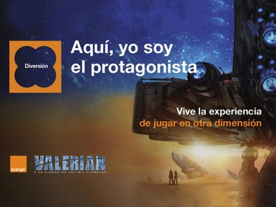 Sé el protagonista de 'Valerian y la Ciudad de los Mil Planetas' con Orange