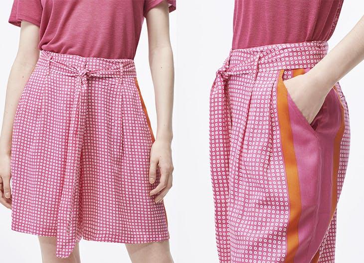 3 outfits con pantalones cortos altos para ir a la oficina en verano