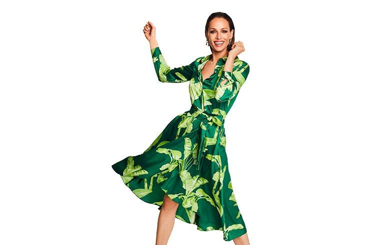 cortefiel vestido verde
