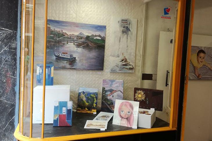 Mucha diversión en Barakaldo con 'Arte y creatividad a pie de calle'