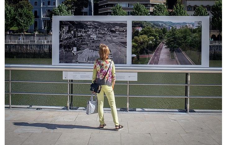 Pasado y presente de Bilbao en el paseo de Abandoibarra