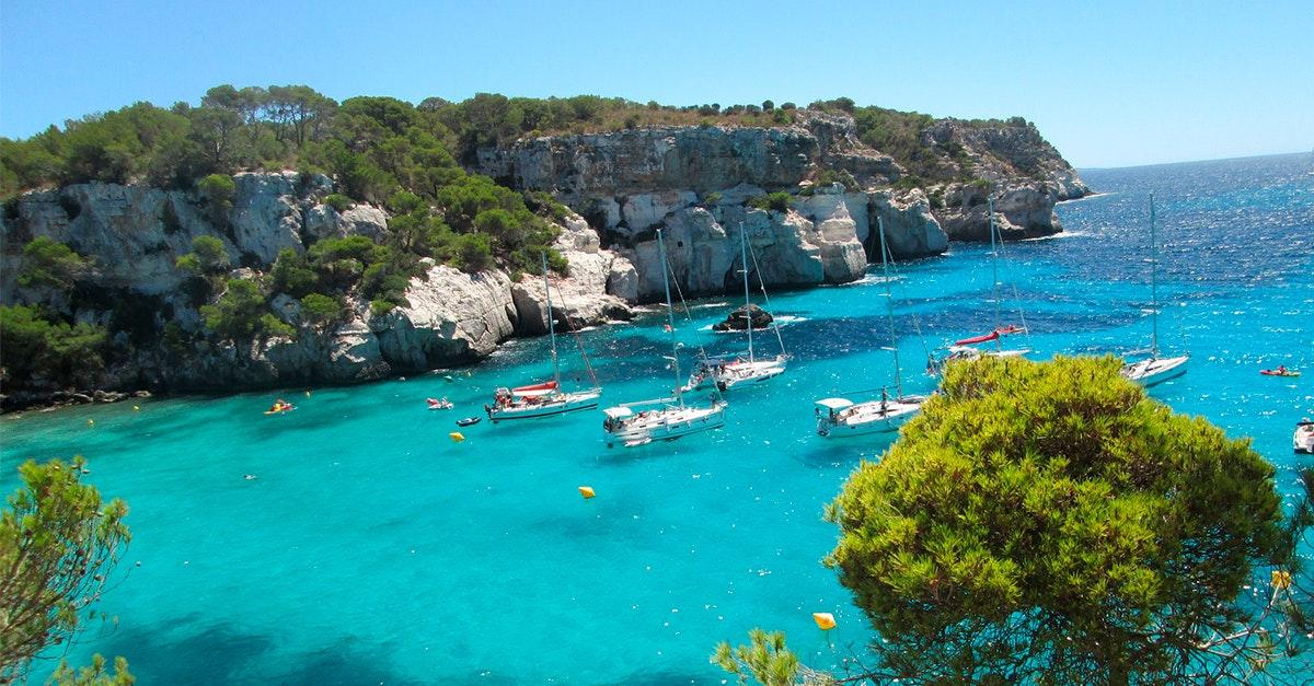 menorca, cala, mar, mediterraneo, baleares, isla