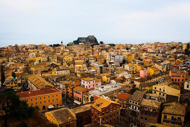 corfu, grecia, la ciudad vieja