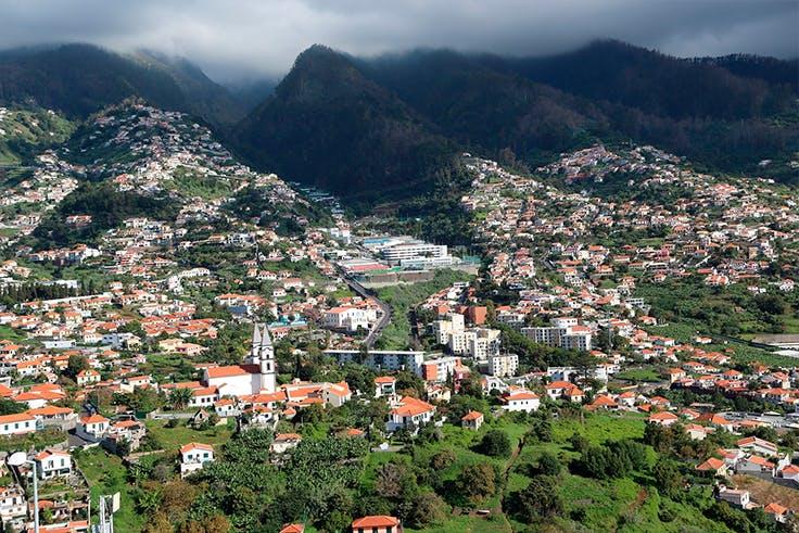 madeira, portugal, vista, montaña