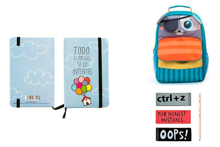 material, escolar, mochila, cuaderno
