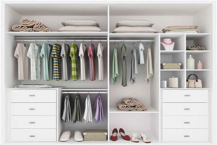 Idea de cómo distribuir la ropa por tipología.