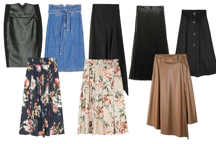 faldas mujer midi