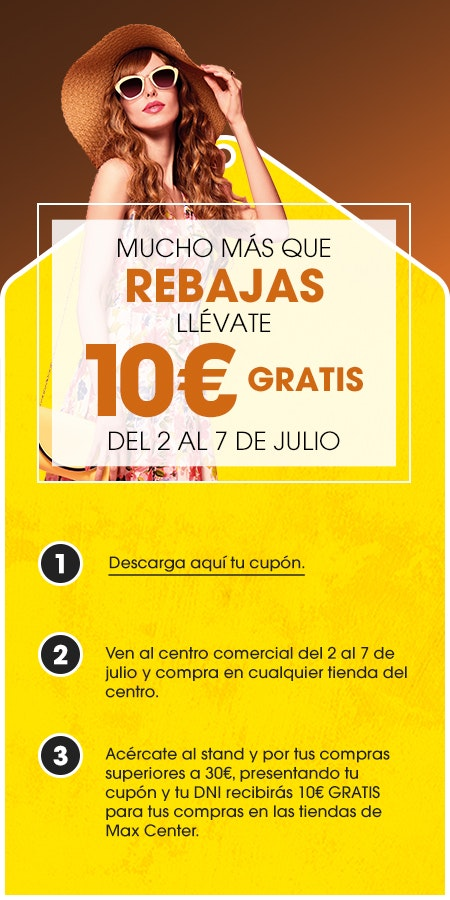 rebajas max center