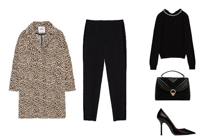 cómo combinar el abrigo de leopardo