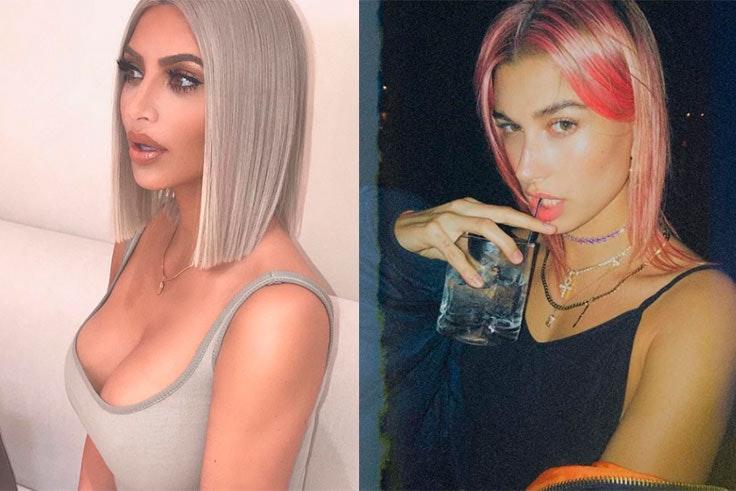 Hailey Baldwin y Kim Kardashian