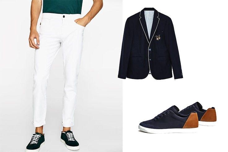 look pantalón blanco