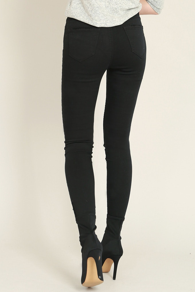 pantalón skinny mujer color negro