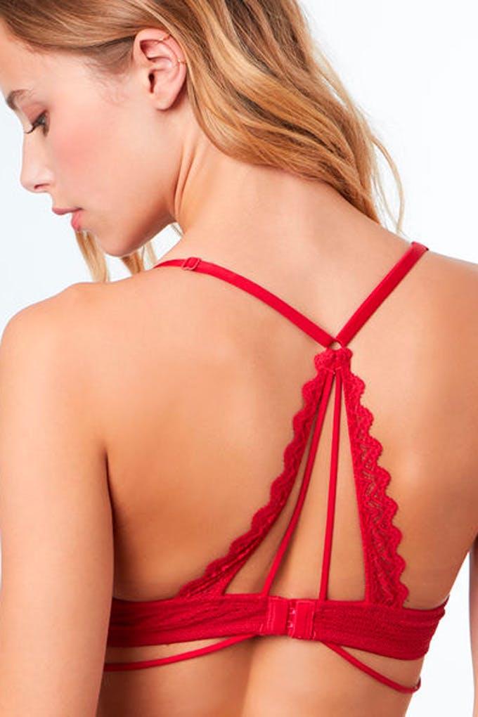 sujetador rojo etam