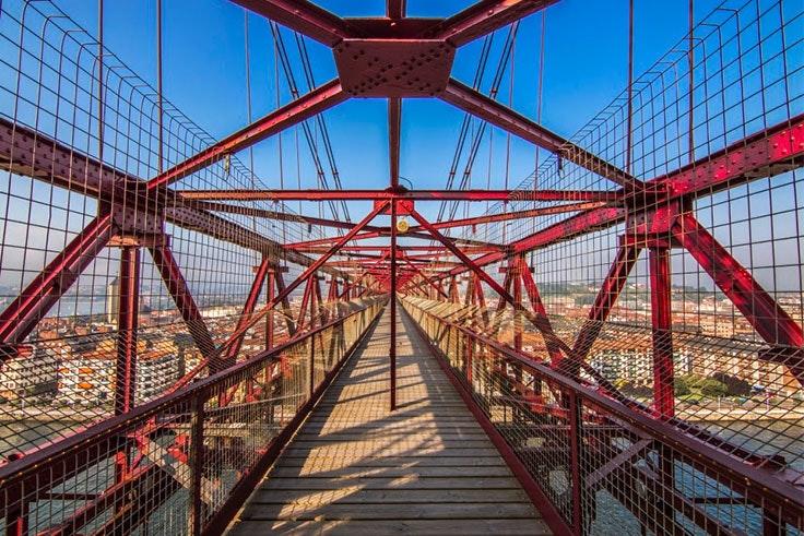pasarela puente colgante
