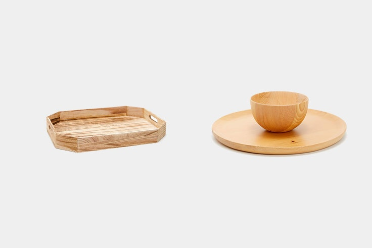 decoración mesa madera