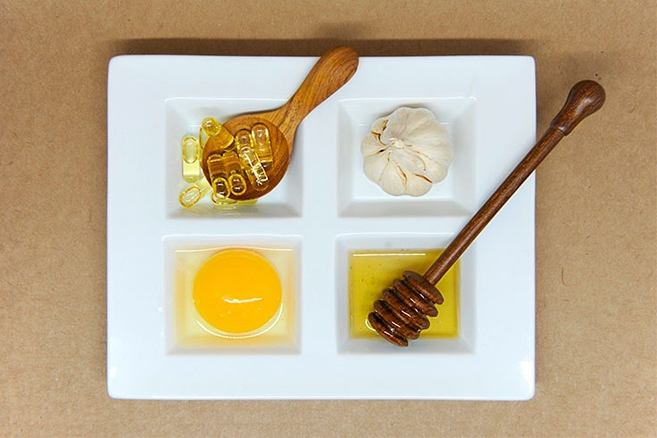 mascarilla facial de huevo y miel