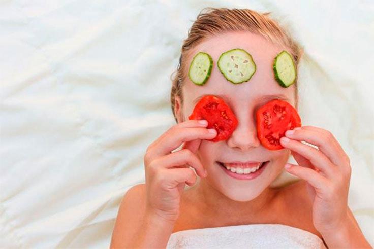 mascarilla facial de tomate
