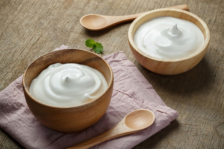 mascarilla facial de yogur