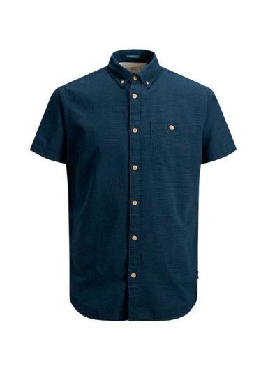 camisa manga corta marino