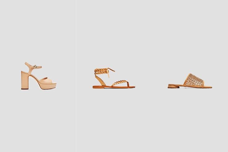 sandalias color nude verano