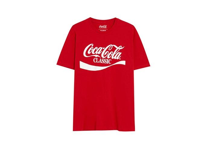 camiseta coca cola logo hombre