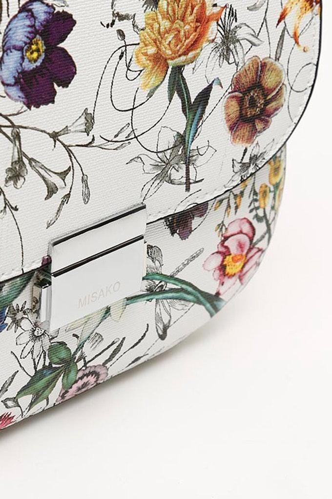 bandolera con flores misako