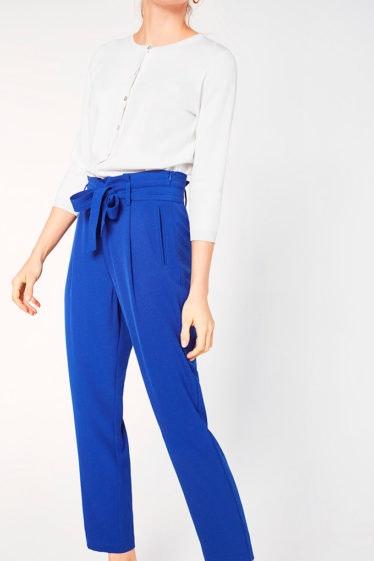 pantalon saco azul