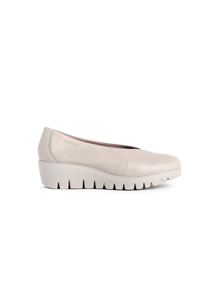 zapatos V beige