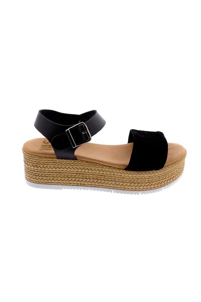 sandalias yute negras