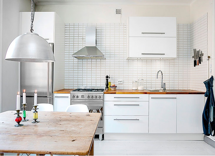 De 10 fotos de cocinas blancas y modernas - Cocinas blancas lacadas ...