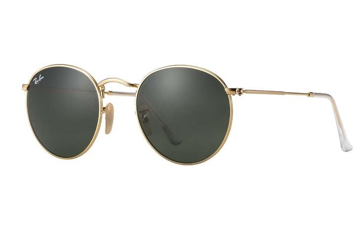 gafas-de-sol-doradas-redondas-ray-ban-soloptical-maxcenter