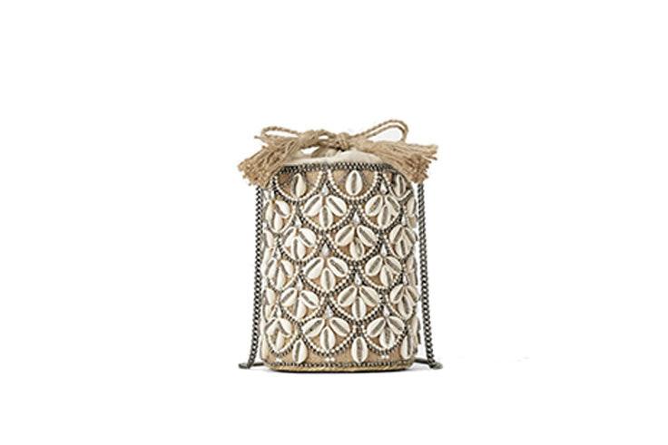 Bolso bandolera cesta conchas